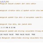 Operasi Aritmatika Dan Manajemen Data Vektor pada R/R Studio Part 2